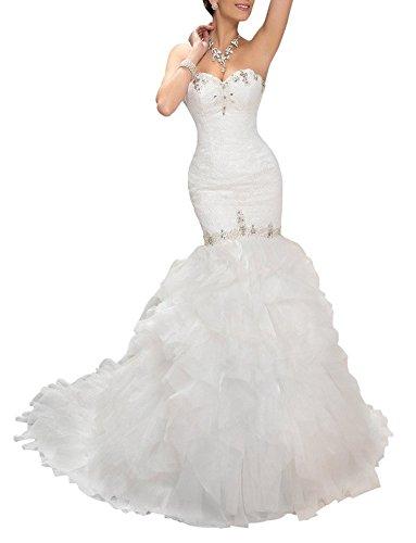 Organza Bridal Wedding Gown - 8