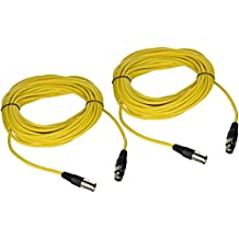 Seismic Audio SAXLX-50Yellow-2Pack Pair of Yellow 50-Feet XLR Male to Female Microphone or Patch Cable (2 Pack)