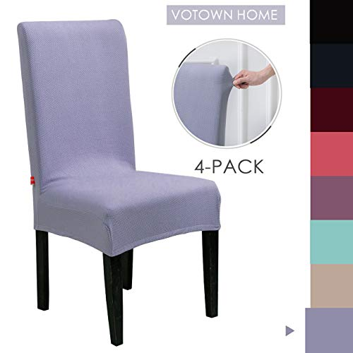 VOTOWN HOME Chair Slipcover for Dining Chairs Covers Set of 4, Blue Grey