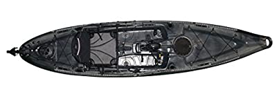 mako12angler-C-D Riot Kayaks Mako 12 Angler Impulse Drive Deluxe Sot Fishing Kayak, Camo, Black/Gray, 12' from Kayak Distribution