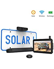 Auto-Vox Solar Wireless Backup Camera Kit, 5 Mins DIY Installation Backup Camera Wireless, 5-inch Monitor and HD Image Rear View Camera for Cars and Medium Sized Vehicles
