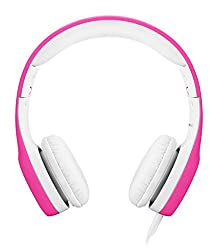 Lilgadgets Connect+ Premium Volume Limited Wired Headphones With Shareport For Children Kids (Pink)
