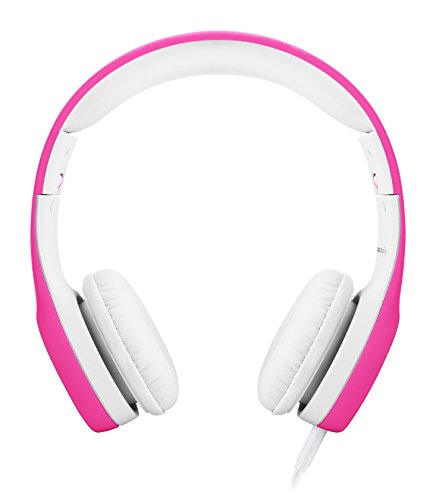 LilGadgets Connect+ Premium Volume Limited Wired Headphones with SharePort for Children / Kids (Pink)