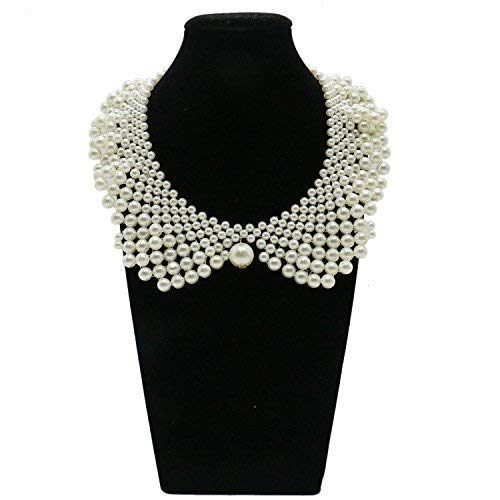 WEFOO False Collar Necklaces Romantic Necklaces with Artificial Pearl for Women Clothing DIY Craft Supply
