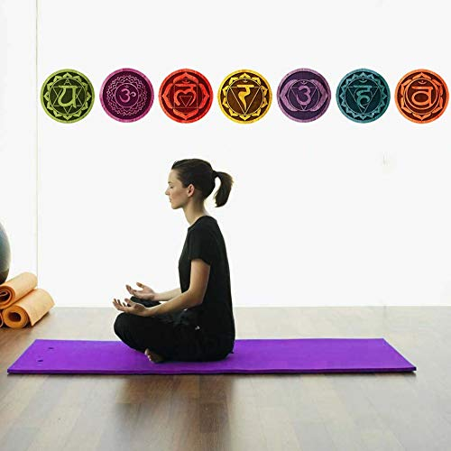 NBKLS Pegatinas De Pared Color Mandala Chakras Yoga ...