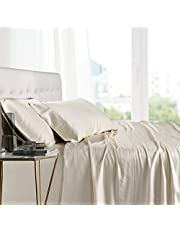 """Mulberry Silk Sheet Set 12"""" Inch Deep Pockets 4-Piece Bed Set- 14 Momme Pure, Authentic - Feather Soft Bedding Sheets - Breathable - Promotes Healthy Hair, Skin"""
