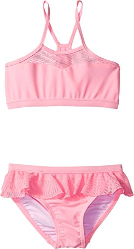 Seafolly Kids Baby Girl's Peekaboo Tankini (Infant/Toddler/Little Kids) Carnation Pink Swimsuit Set 1 (24 Months)