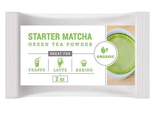 Starter Matcha - Pure Matcha Green Tea Powder, Incredible Flavor, Delicate Aroma, Natural Energy Booster and Fat Burner