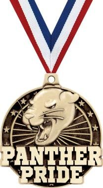 Crown Awards Gold Panther Pride Mascot Medals - 2