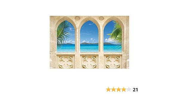 Fotomural Motivo Playa Ocean View, 225x336cm: Amazon.es ...