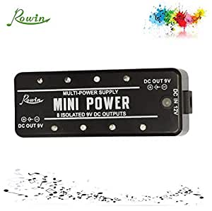 rowin mini power lef 329 9v dc guitar pedal power supply for bass guitar musical. Black Bedroom Furniture Sets. Home Design Ideas