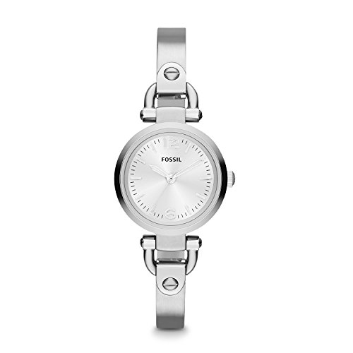 Fossil Women's Georgia Mini Quartz Stainless Steel Dress Watch, Color: Silver (Model: ES3269) (Fossil Watch Color)