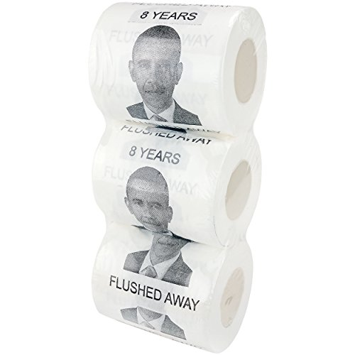 Fairly Odd Novelties Barack Obama 8 Years Flushed Away Toilet Paper (3 Pack)