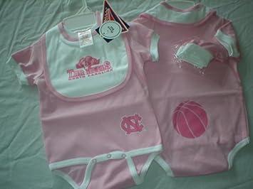 Amazon Com North Carolina Tar Heels Unc Newborn Baby Girl Pink