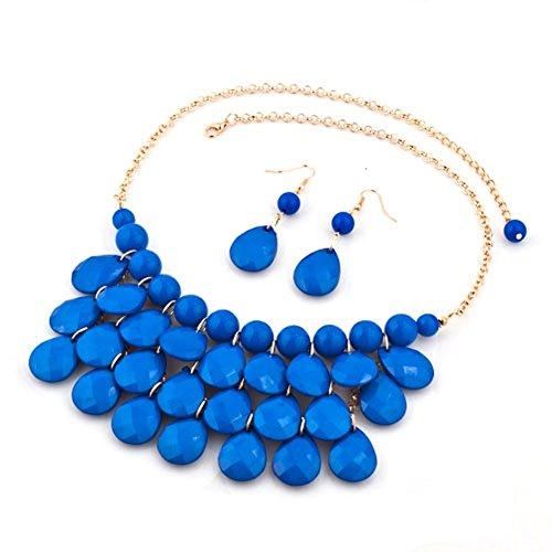 LuckyJewelry Statement Necklace Earrings Bohemian