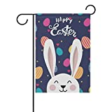 La Random Easter Bunny Ear Garden Flags Flag Banner Polyester 28×40 Inches Welcome Flag Double Sided Print Holiday Garden Flag Review