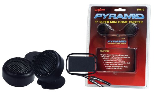Pyramid TW10 1-Inch 100 Watts Super Mini Dome Tweeter with InLine (100w Super Tweeter)