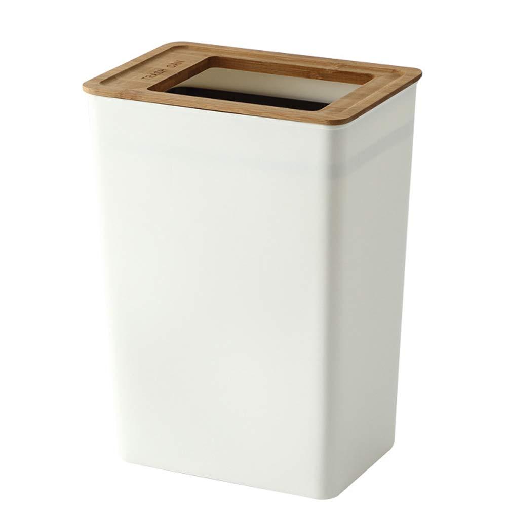 Slim Trash Can Plastic Wastebasket Garbage Container Bin for Bathroom Kitchen Office