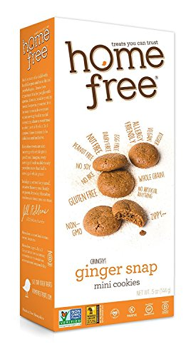 Chocolate Ginger Snaps - Homefree Treats You Can Trust Gluten Free Mini Cookies, Ginger Snaps, 5 Ounce, 6 Count