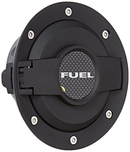 Drake Muscle Cars MO-210001-BLACK Billet Aluminum Fuel Door Dodge Challenger Fuel Tank