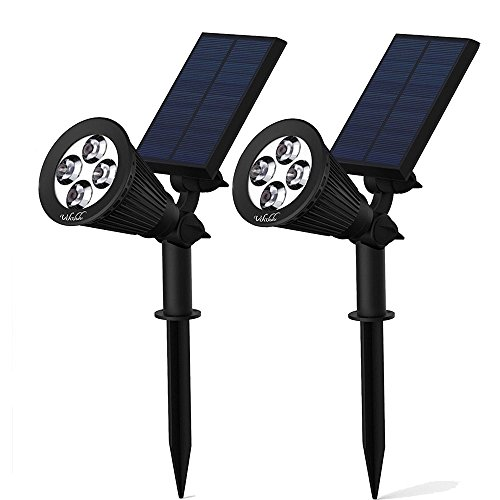 - Solar Spotlights,Solar Lights 2-in-1 Adjustable Landscape Wall Light Waterproof Security Light for Outdoor Yard Garden Lawn - Auto-On / Off - The 3rd Gen-2 pack