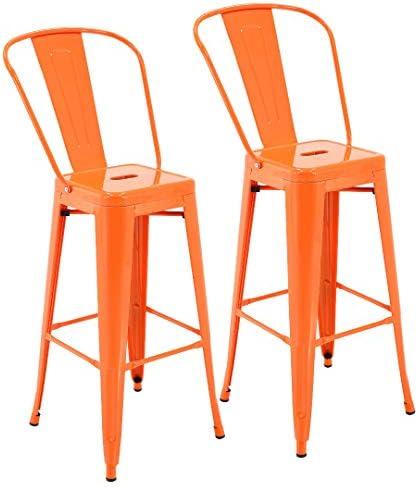 Porthos Home Rust-Resistant Metal Patio Barstool