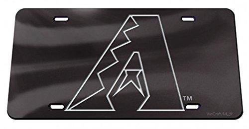(Rico Industries, Inc. Arizona Diamondbacks Black Premium Laser Cut Tag Acrylic Inlaid License Plate Baseball)