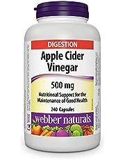 Webber Naturals Apple Cider Vinegar Capsules, 500 mg, 240 Count