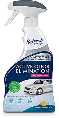 Refresh Your Car! E300863600 Active Odor Elimination 16.2 oz Trigger Spray, Grapefruit