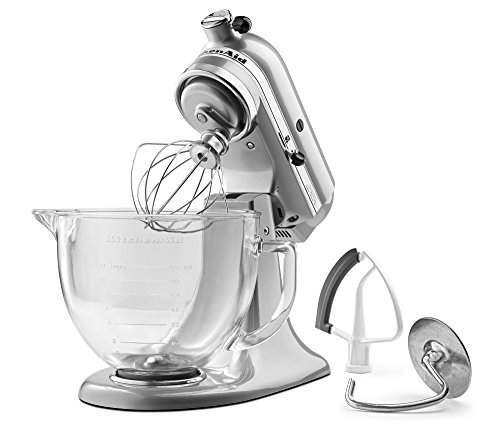 Purchase KitchenAid KSM105GBCMC 5-Qt. Tilt-Head Stand Mixer with Glass Bowl and Flex Edge Beater - M...