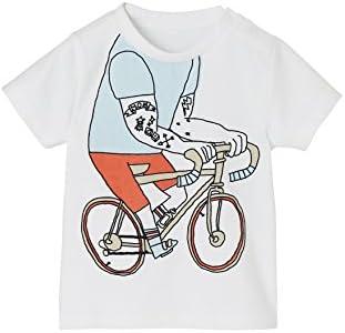 VERTBAUDET Camiseta para bebé niño con Bicicleta en Relieve Blanco ...