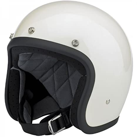 Amazon.es: Motorcycle Storehouse Biltwell Bonanza - Casco para moto L blanco brillante