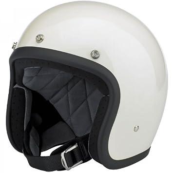 Motorcycle Storehouse Biltwell Bonanza - Casco para moto L blanco brillante