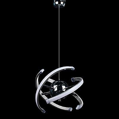 ELINKUME 23W LED Pendant Light, Modern Chandelier Ceiling Light Fixture, AC85-265V 4000K Natural Light, Tube & Cord Adjustable (zts25YX)