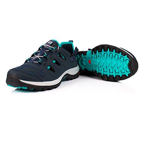 Salomon Women's Ellipse Cabrio Low Rise Hiking Boots, Brown, 6 M US Blue (Deep Blue/Slateblue/Teal Blue F 000)
