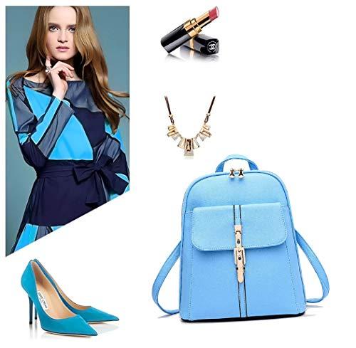 Sacs Bleu portés main Sacs portés Rose Cuir dos Ciel Sacs DEERWORD Femme Faux bandoulière BUTxFO