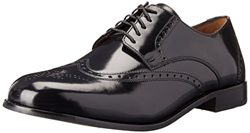 Florsheim Men's Brookside Wingtip Oxford, Black, 9.5 D US