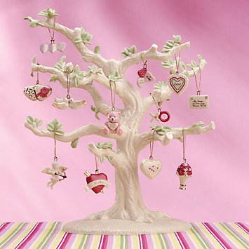 Lenox Set of 12 Ornaments for Ornament Tree (Tree Not Included) (Be Mine Valentine) (Valentine Mine Be)