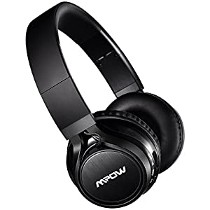 Mpow Thor Bluetooth Headphones On Ear, 40mm Driver Wireless Headset Foldable with Mic, Wired and Wireless Headphones for Cell Phone/TV/PC