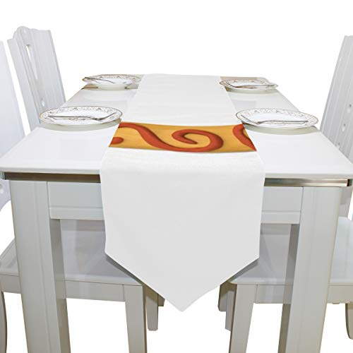 Table Linens Particluar Letter C Colorful Non-Slip Table Runner Traditional Tablecloths for Kitchen Dining Room Decoration Office Table Covers Table Toppers 13x90 Inch