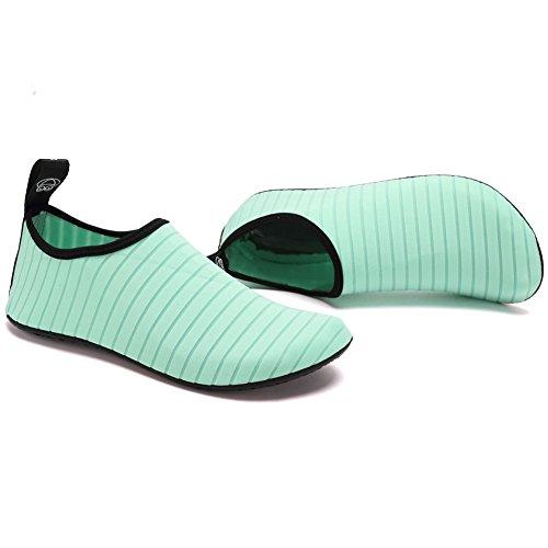 CIOR Leichte Aqua Socken Quick-Dry Wasser Schuhe Mutifunctional Barfuß Für Strand Pool Surf Yoga Übung Grün