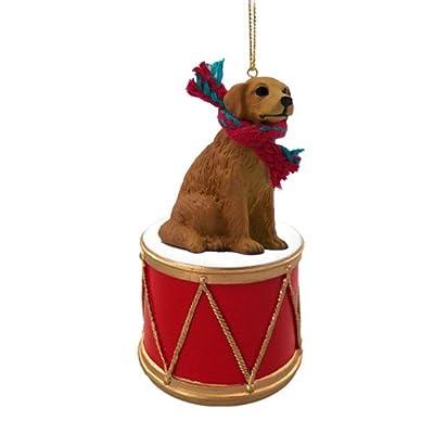 Animal-Den-Little-Drummer-Golden-Retriever-Christmas-Ornament-Hand-Painted-Delightful