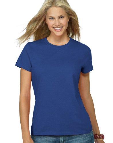 Hanes Ladies Nano-T Cotton T-Shirt, XL, Deep Royal ()