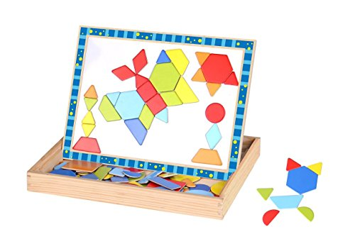 Magnetic Puzzles for Toddlers - Ideal Wooden Pattern Imagination Magnet Board for Kids - Fun and Educational Toy for All Ages