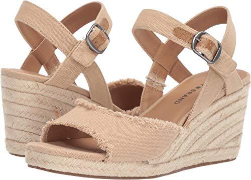 Lucky Brand Women's Mindra Travertine 8 M - Shoe Espadrilles Wedge Jute