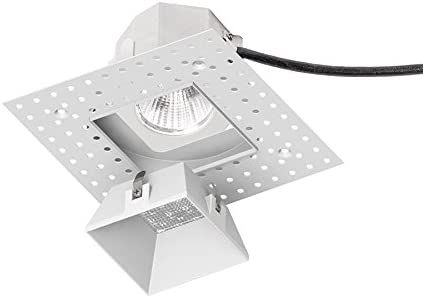Wac Lighting R3asdl F927 Wt Aether Square Invisible Trim With 90 Cri Led Light Engine Flood 40 Beam 2700k Warm White