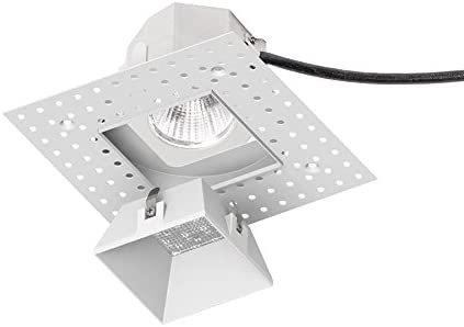 WAC Lighting R3ASDL-F830-WT Aether Square Invisible Trim with LED Light Engine Flood 40 Beam 3000K Soft White