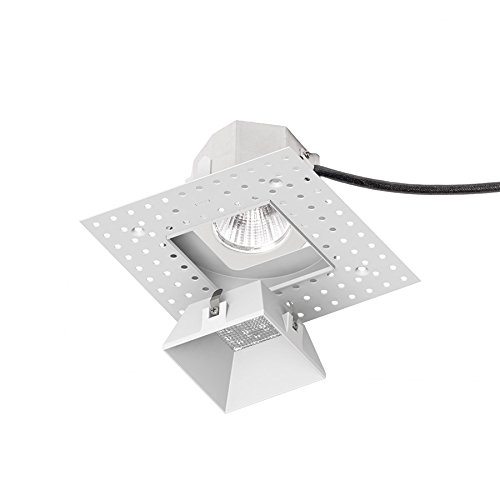 WAC Lighting R3ASDL-F930-WT Aether Square Invisible Trim with 90 CRI LED Light Engine Flood 40 Beam 3000K Soft White
