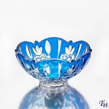 (StudioSilversmiths 43990 Fine Blue Crystal Candy Dish)