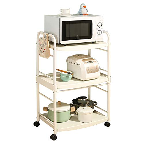 Kitchen Cart Plastic Multi-Layer, Storage Rack with Wheel Cart for Living Room Bathroom, Kitchen Household Items for Various Things by Kitchen Cart (Image #7)